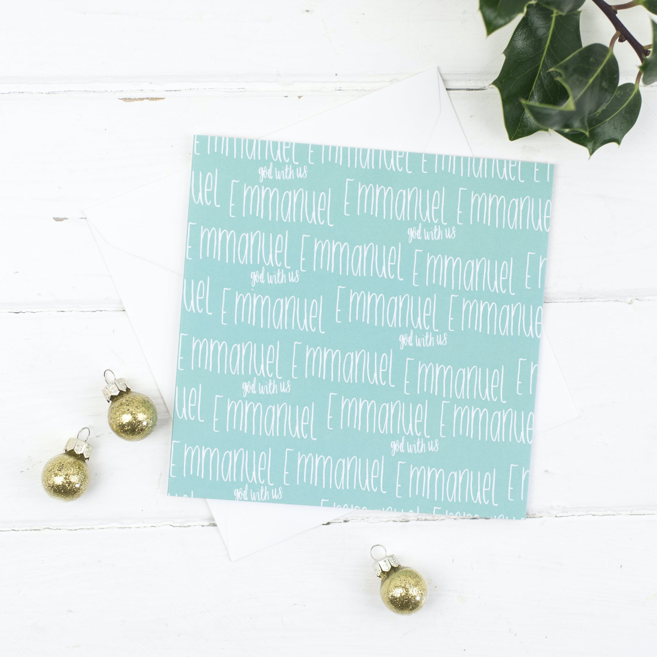 Emmanuel - Christmas Card - Christian Lettering Company
