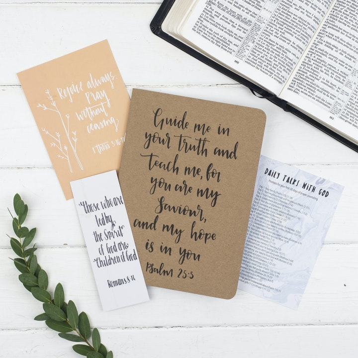 Encouragement Prayer Journal Gift Set - Christian Lettering Company