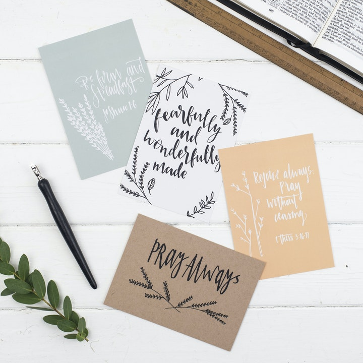 Encouraging Scripture Postcards - Christian Lettering Company