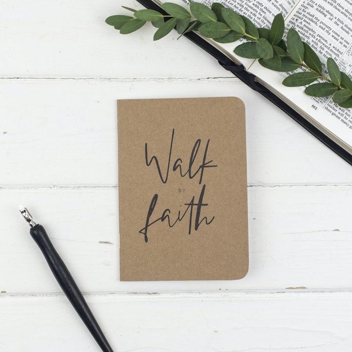 Faith Mini Prayer Journal - 2 Corinthians 5:7 - Christian Lettering Company