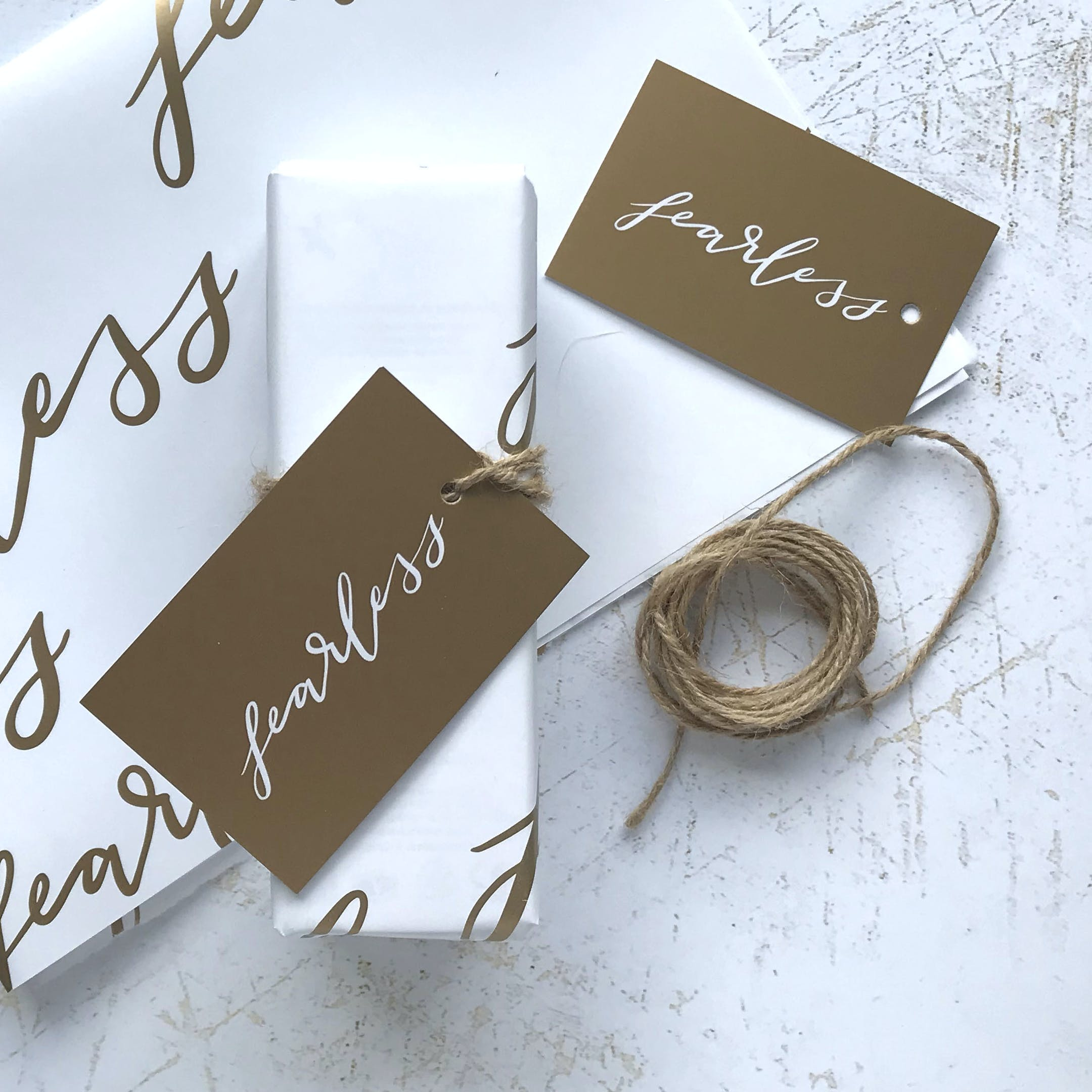 Fearless Christian Gift Wrapping Set   Christian Lettering Company   Cheerfully Given