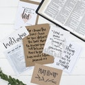 For I Know The Plans Prayer Gift Set - Jeremiah 29:11 - Christian Lettering Company