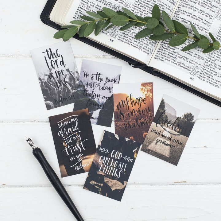 Freedom Mini Scripture Cards - Christian Lettering Company
