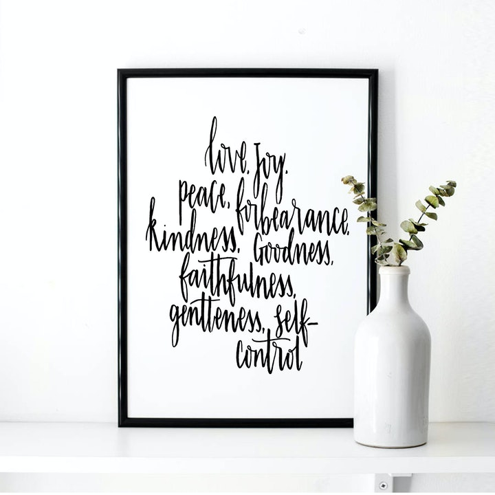 Fruits of the Spirit Print - Galatians 5:22-23 - Christian Lettering Company