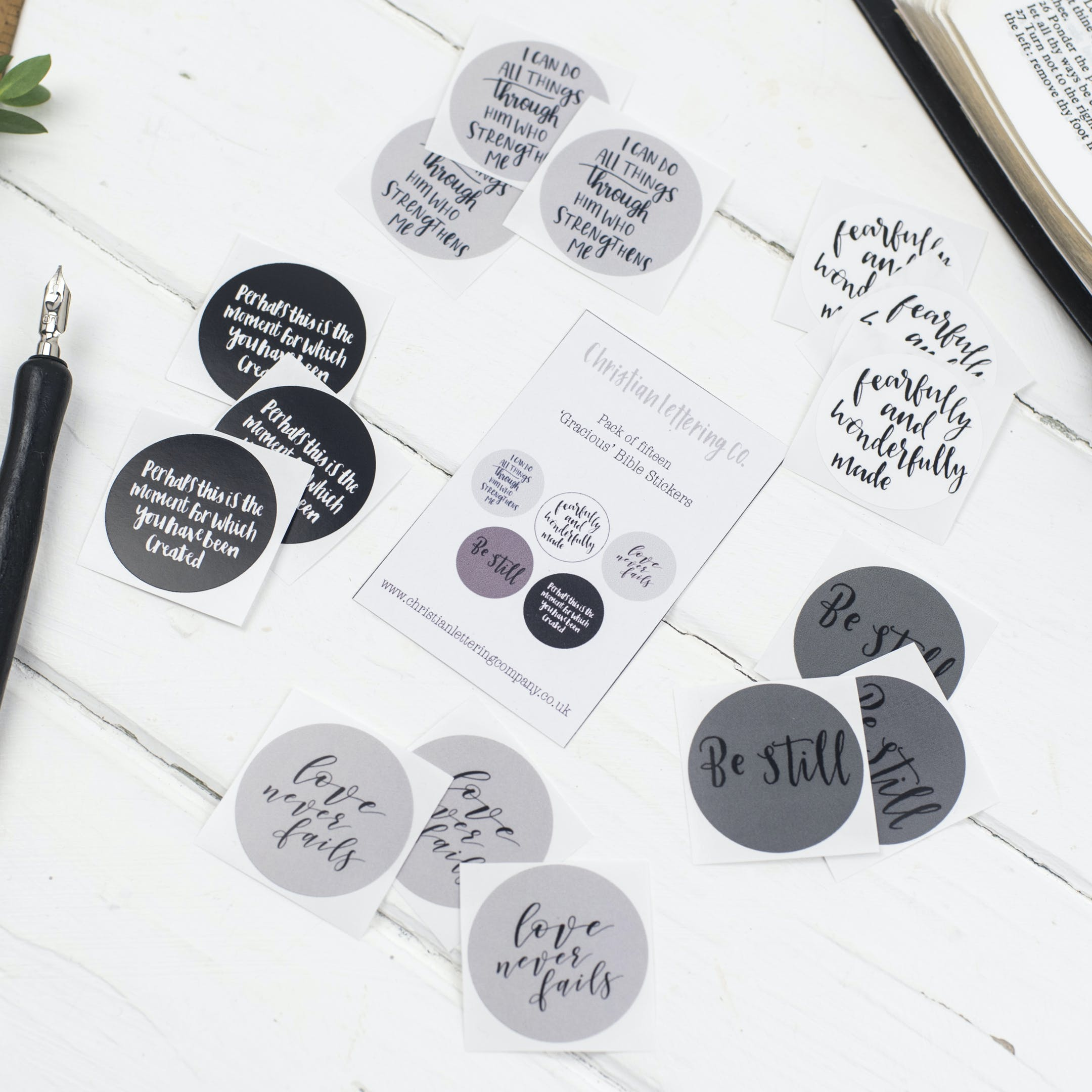 Gracious Bible Verse Stickers - Christian Lettering Company