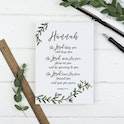 Hannah Personalised The Lord Bless You And Keep You Print - Numbers 6:24-26 - Christian Lettering Company
