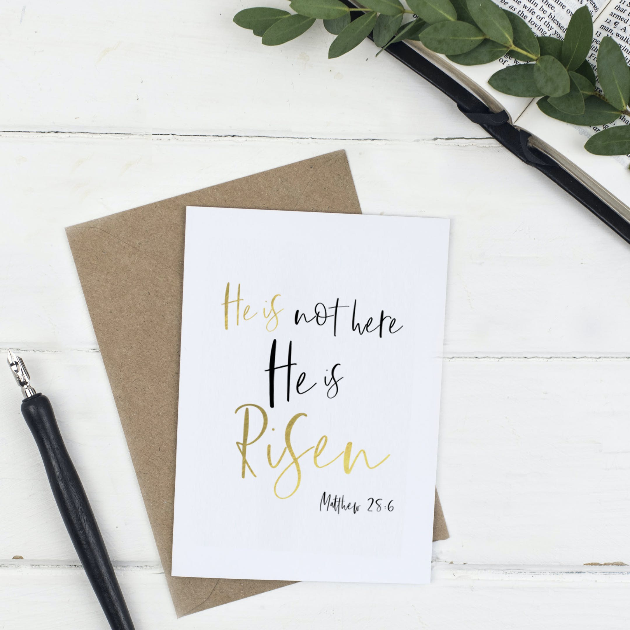 He Is Not Easter Card - Christian Lettering Company
