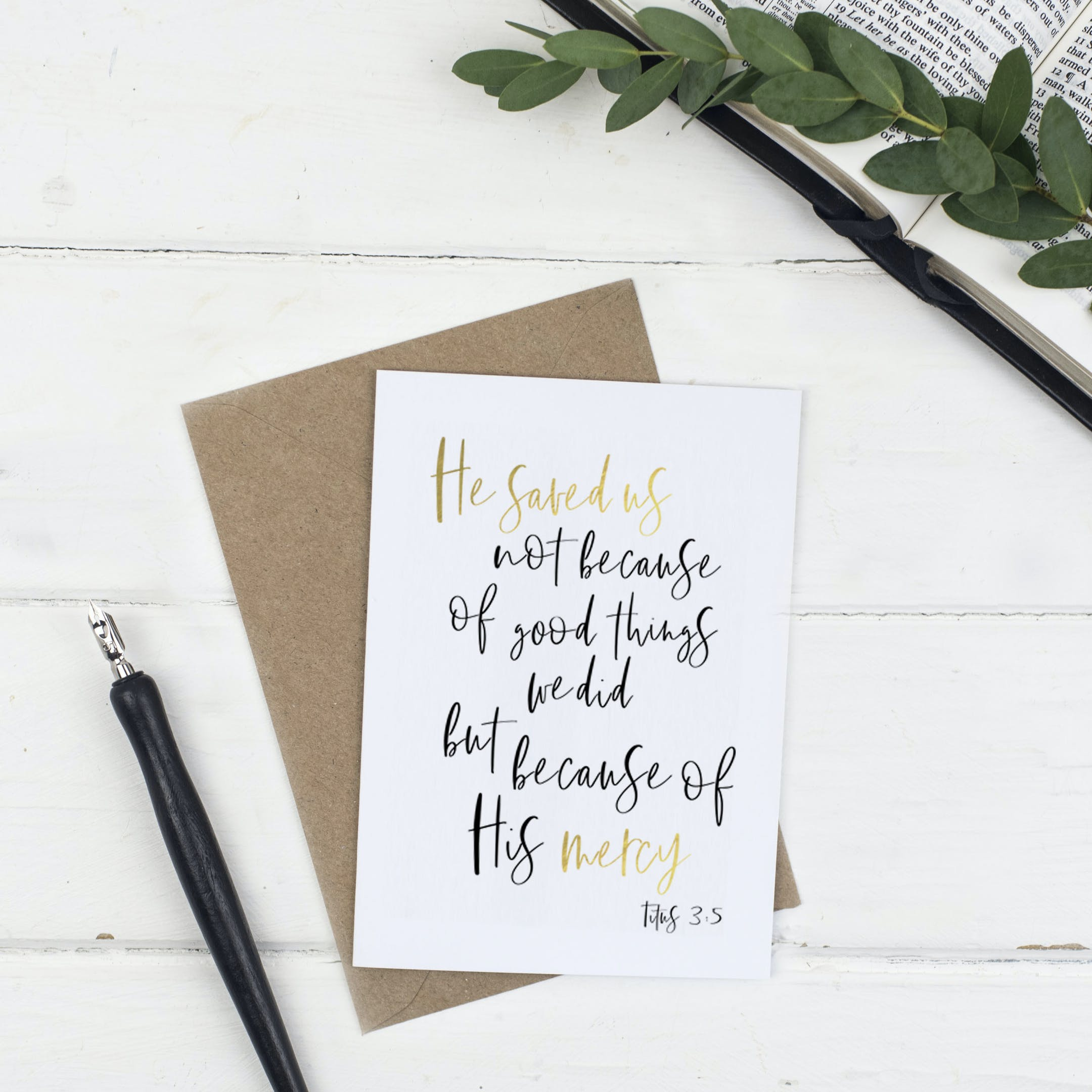 He Saved Easter Card - Christian Lettering Company