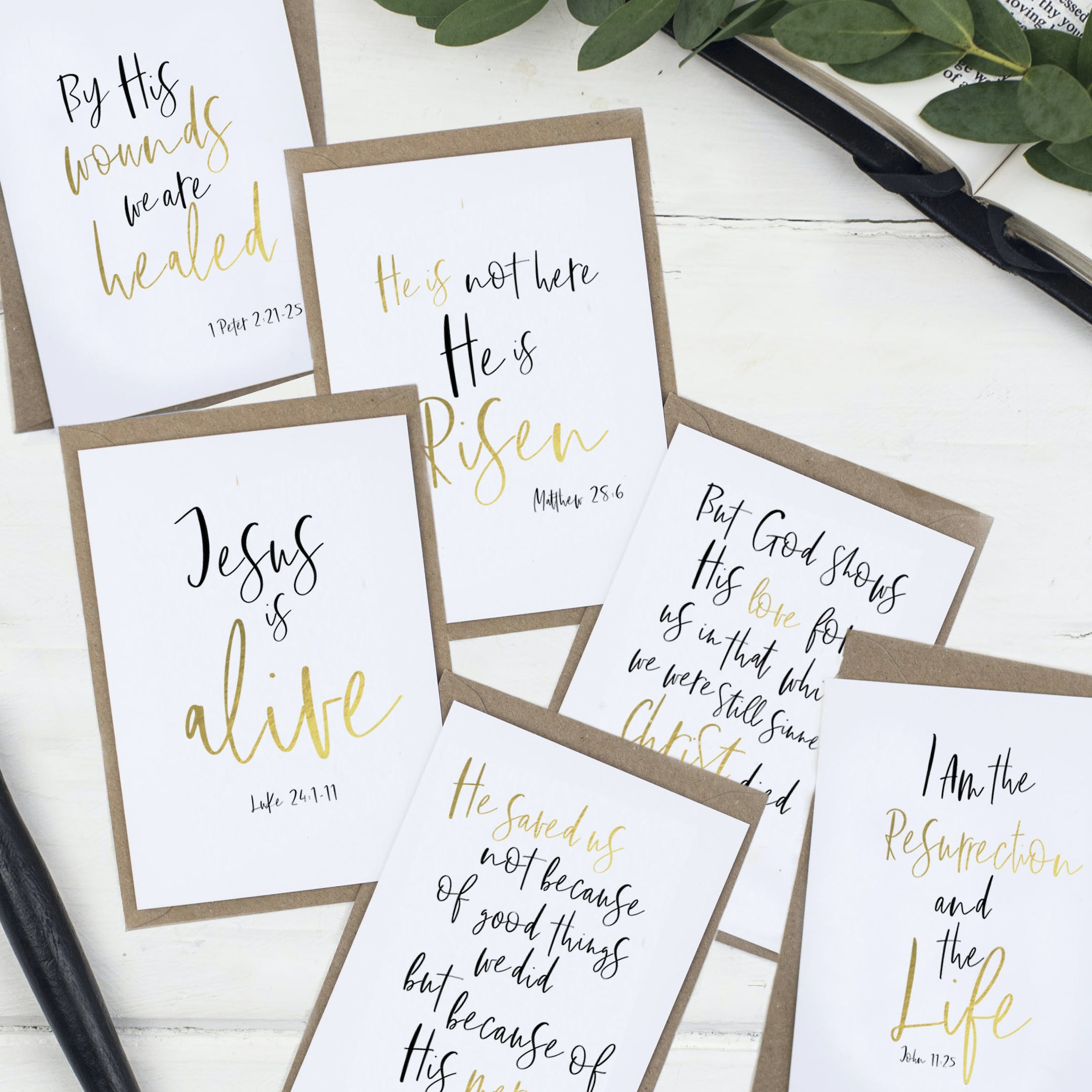 He is Risen Easter Card Set  - Set of Six - Christian Lettering Company