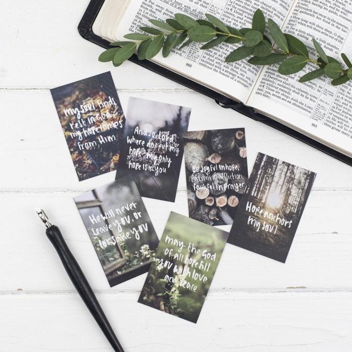 Hope Mini Scripture Cards - Christian Lettering Company