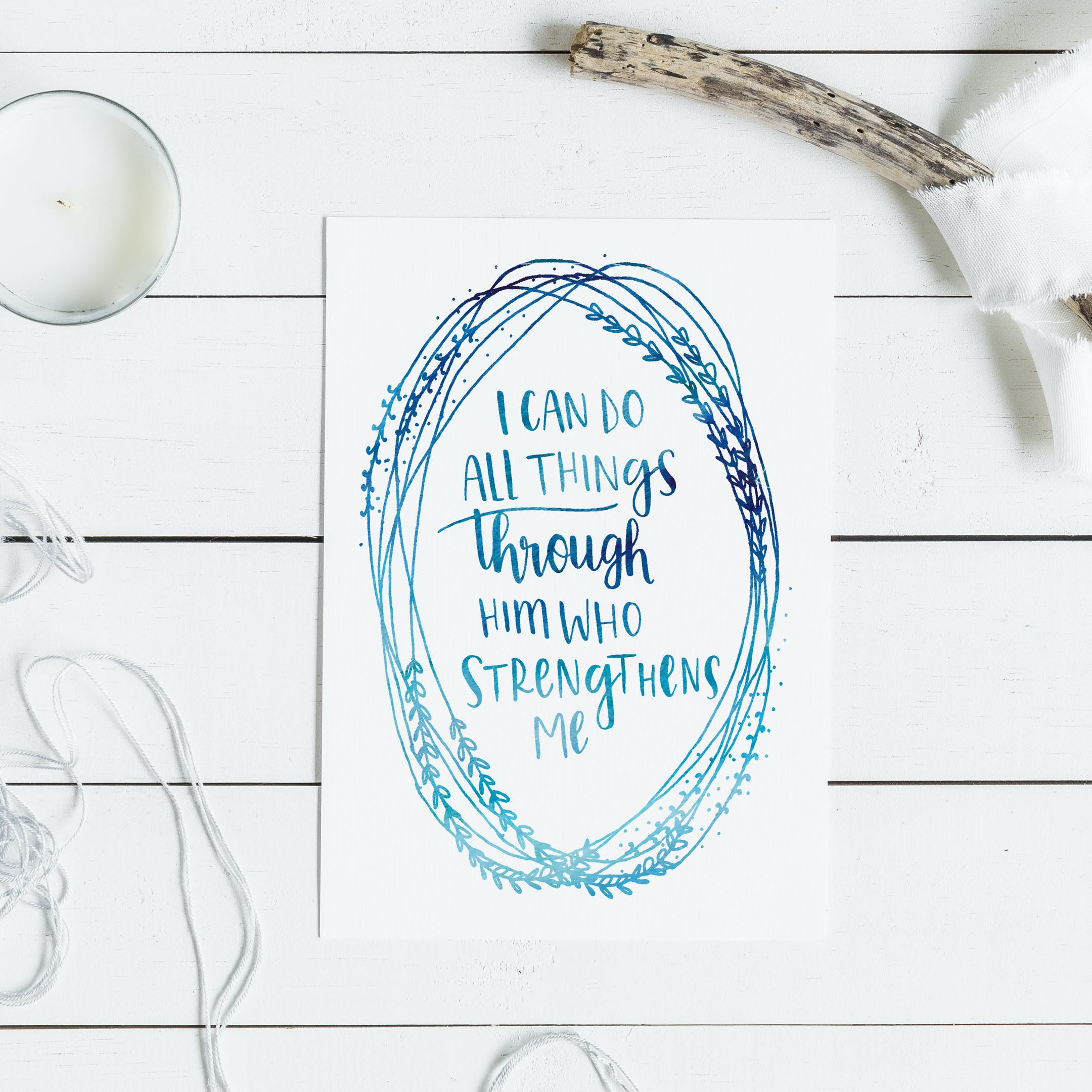 I Can Do All Things Card - Christian Lettering Company