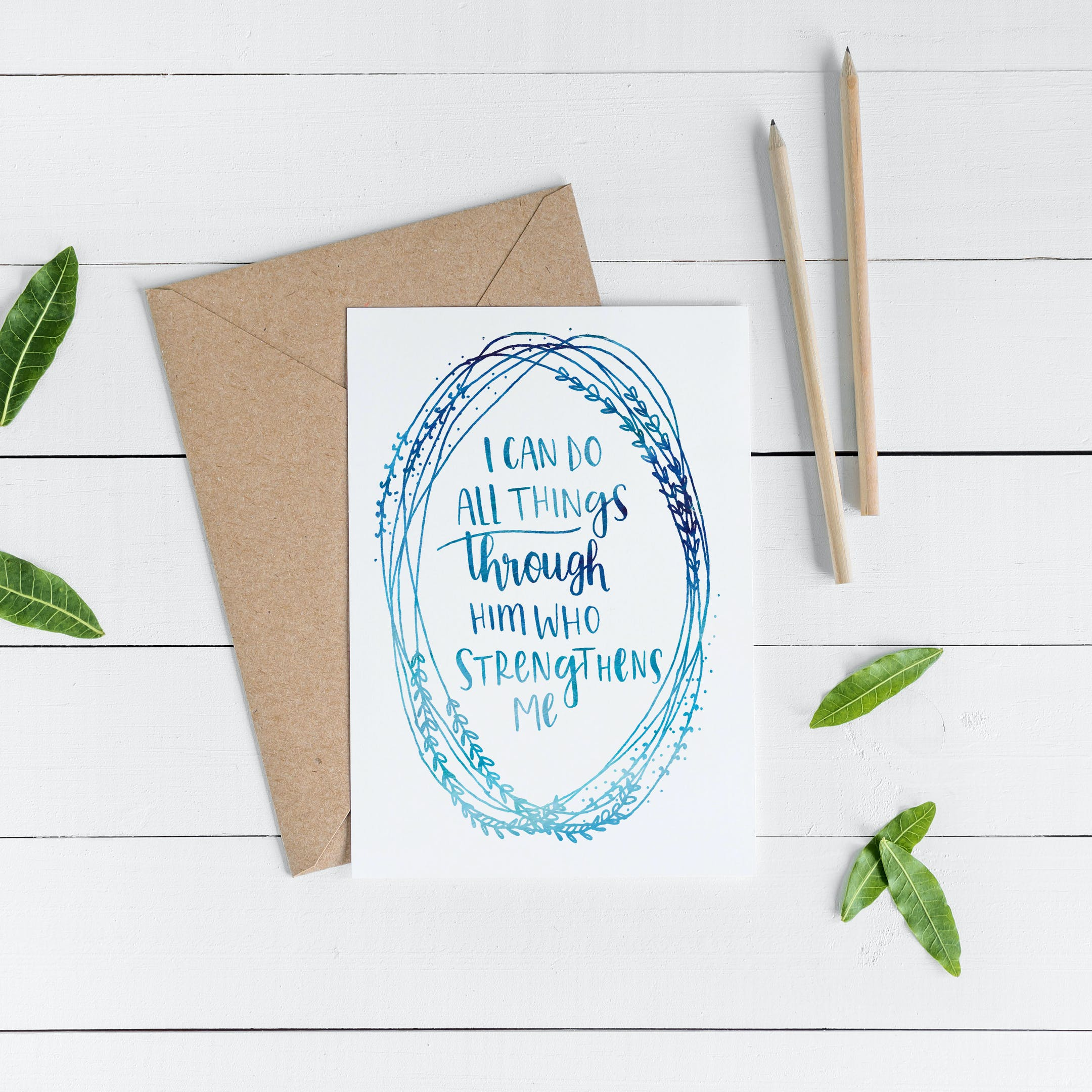 I Can Do All Things Card - Philippians 4:13 - Christian Lettering Company