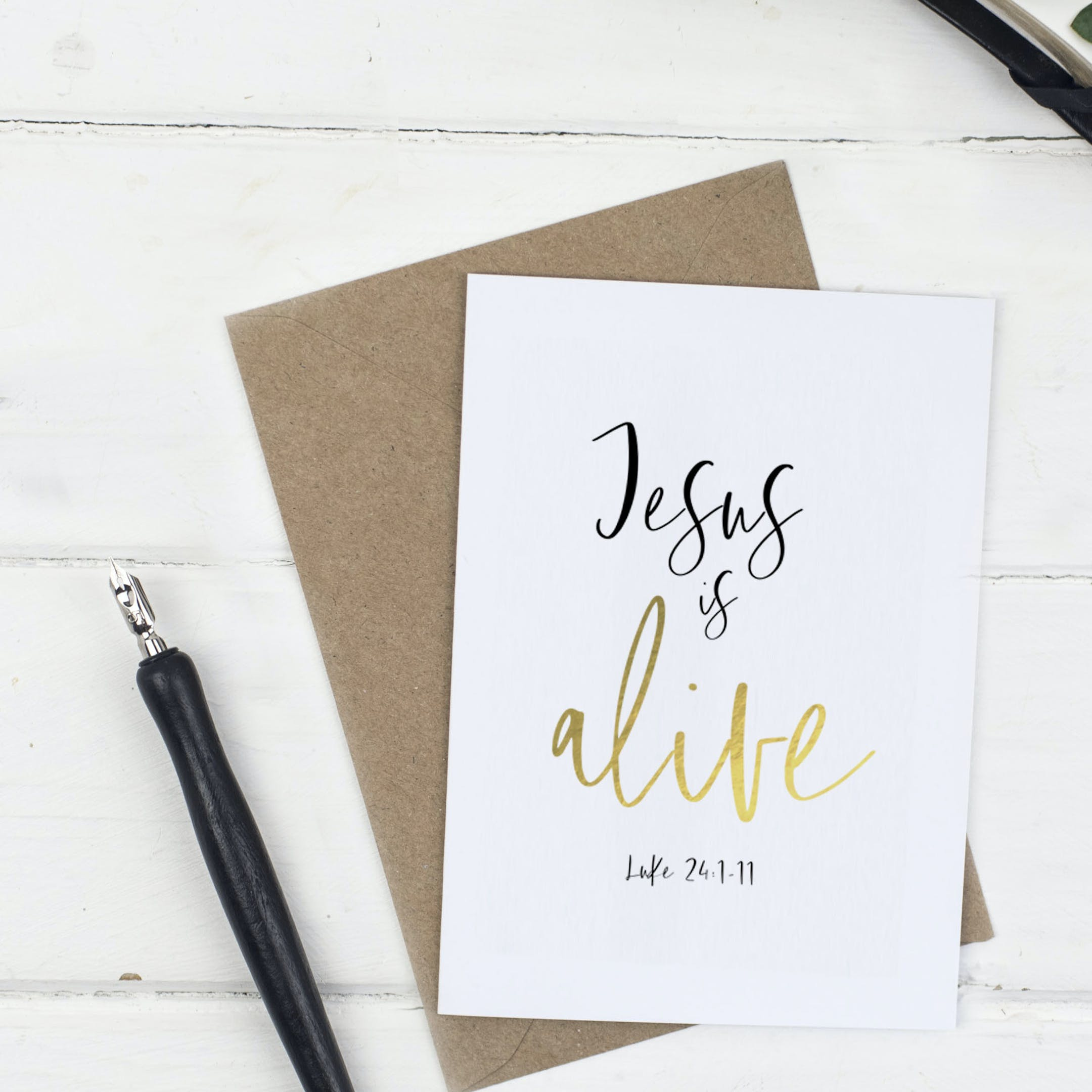 Jesus Easter Card - Christian Lettering Company