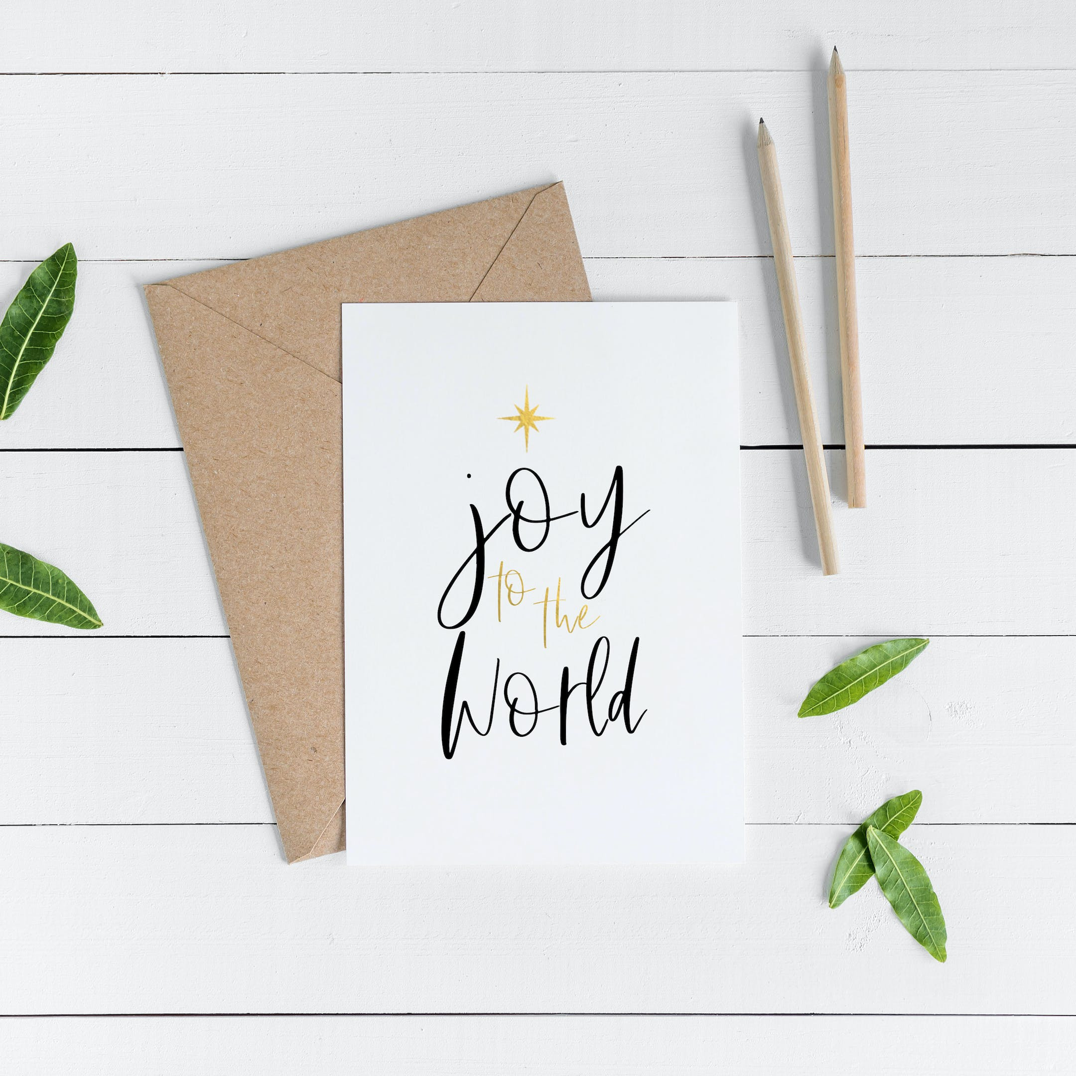 Joy To The World - Carols at Christmas Gold Card - Christian Lettering Company