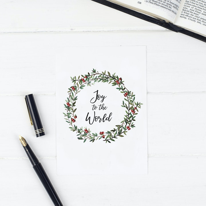Joy To The World - Christmas Print - Christian Lettering Company