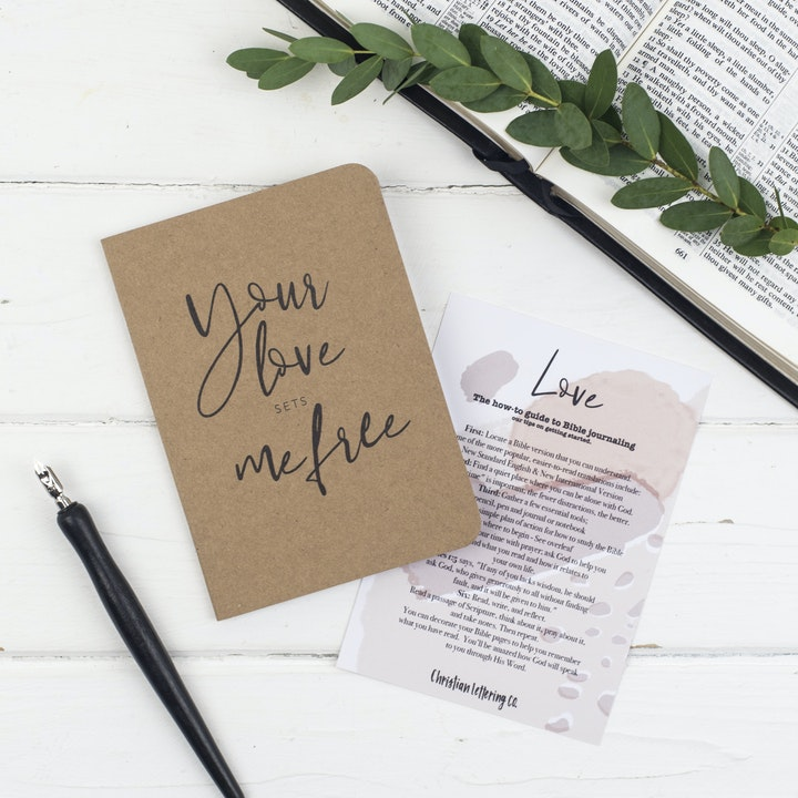 Mini Prayer Journal - Love - Christian Lettering Company