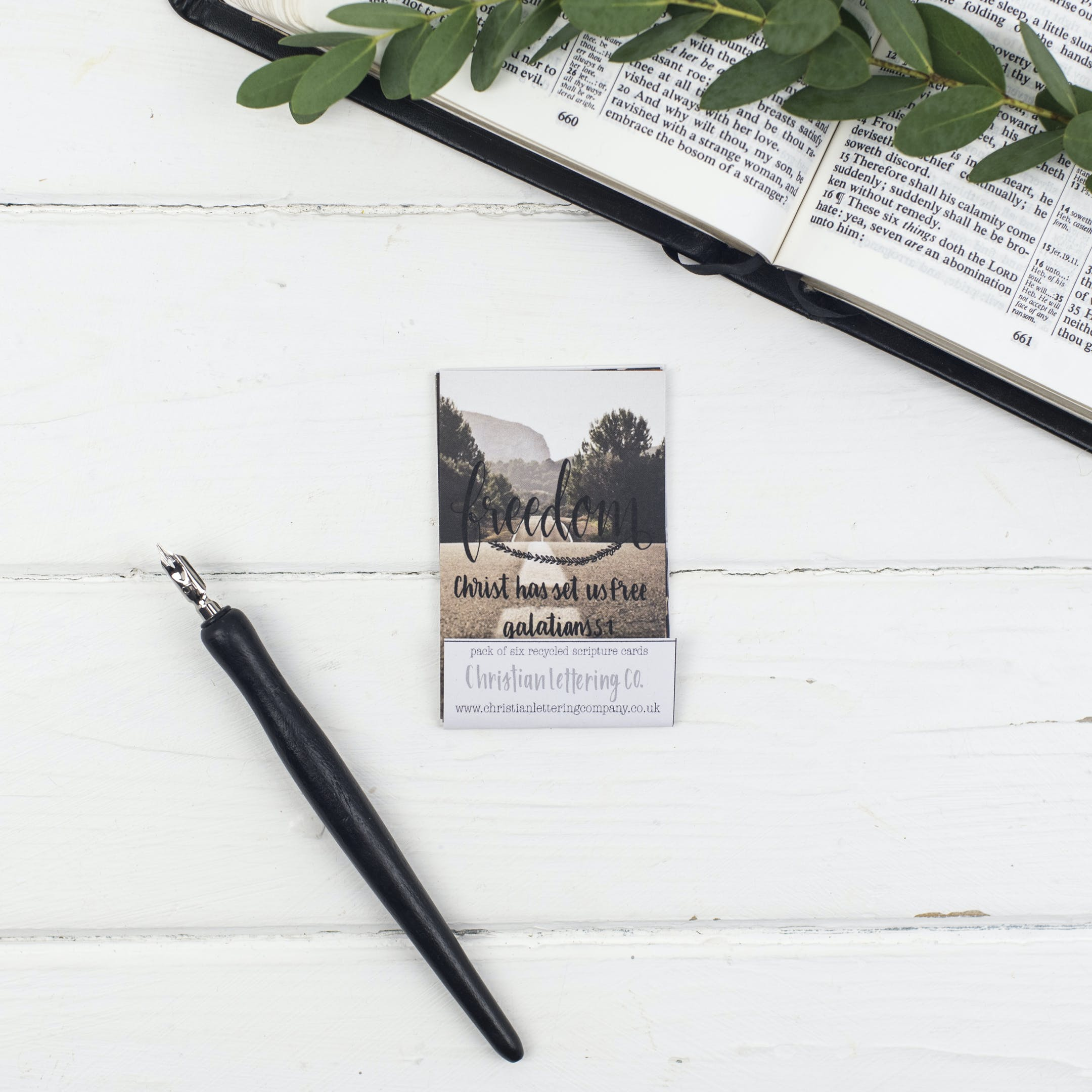 Mini Scripture Cards - Freedom - Christian Lettering Company