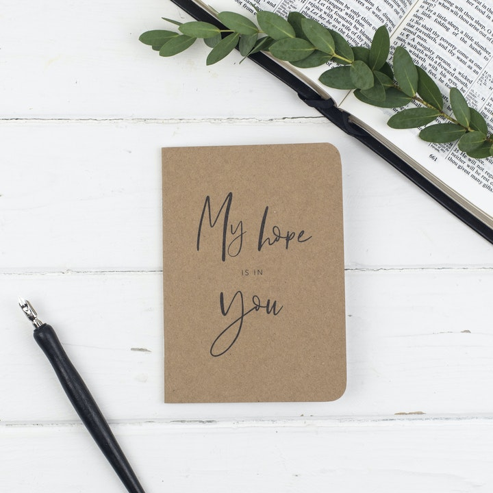 My Hope Is In You Journal - Christian Lettering Company
