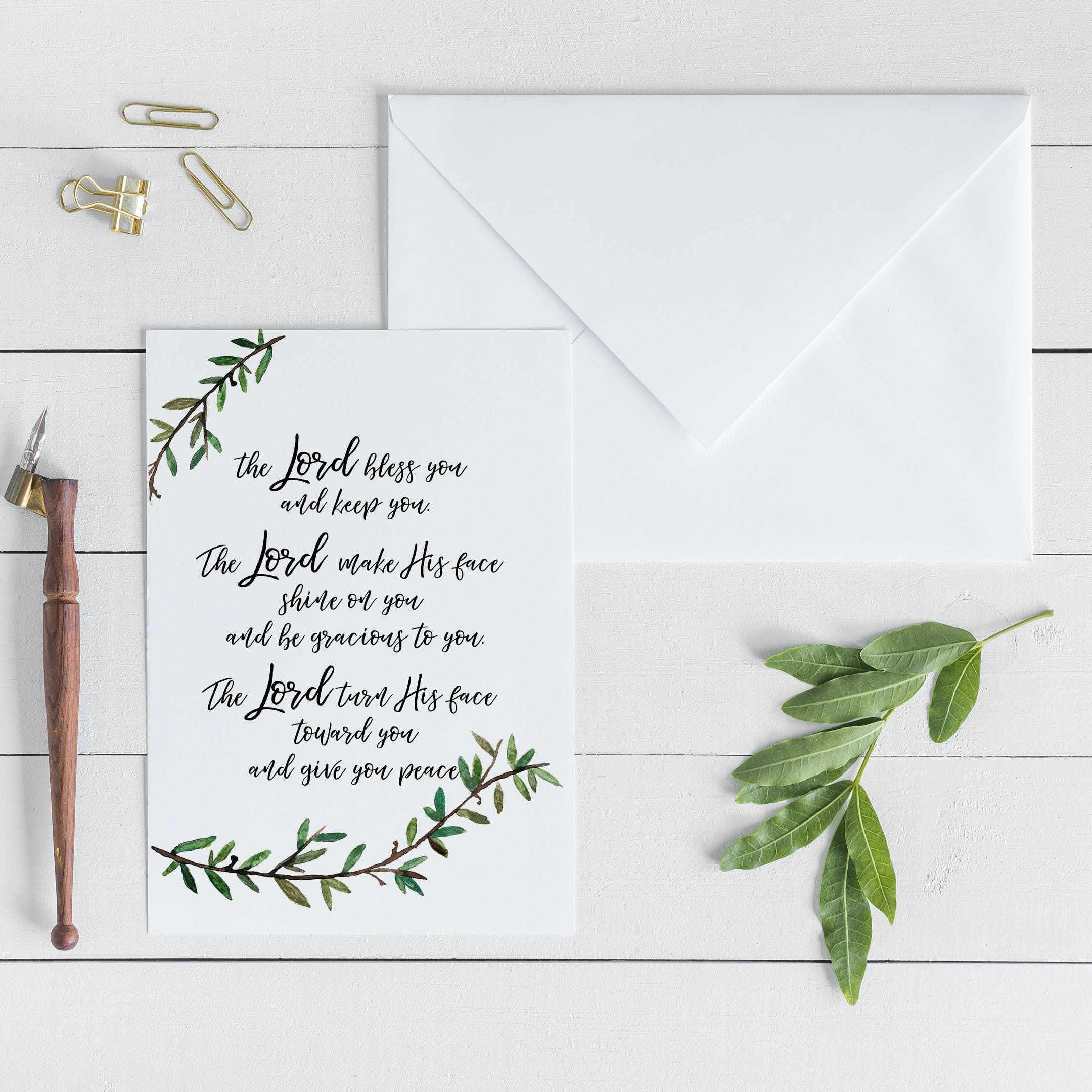 Numbers 6:24-26 Card - The Lord Bless You - Christian Lettering Company