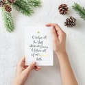 O Holy Night - Carols at Christmas Gold Card - Christian Lettering Company