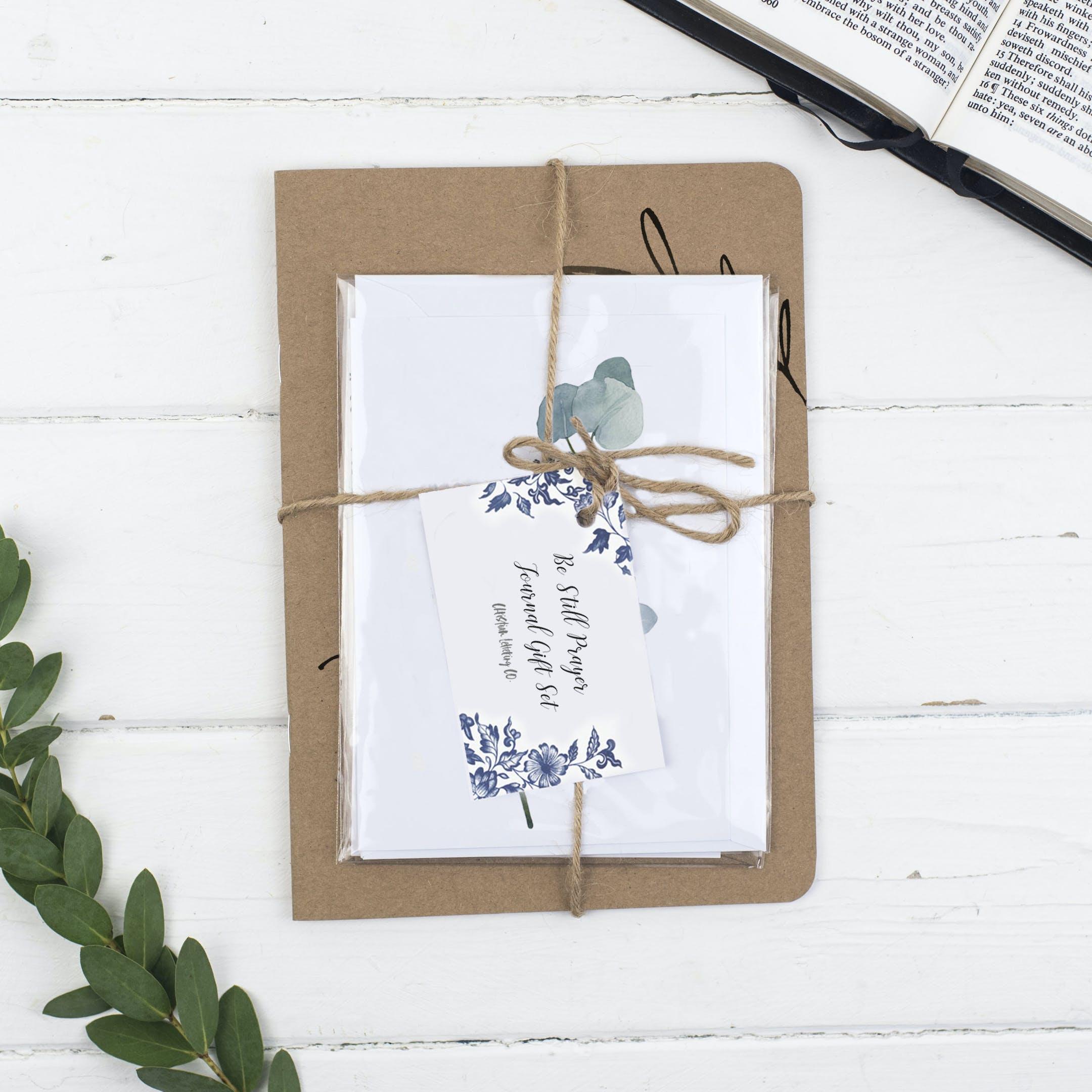 Prayer Journal Gift Set - Be Still - Psalm 46:10 - Christian Lettering Company