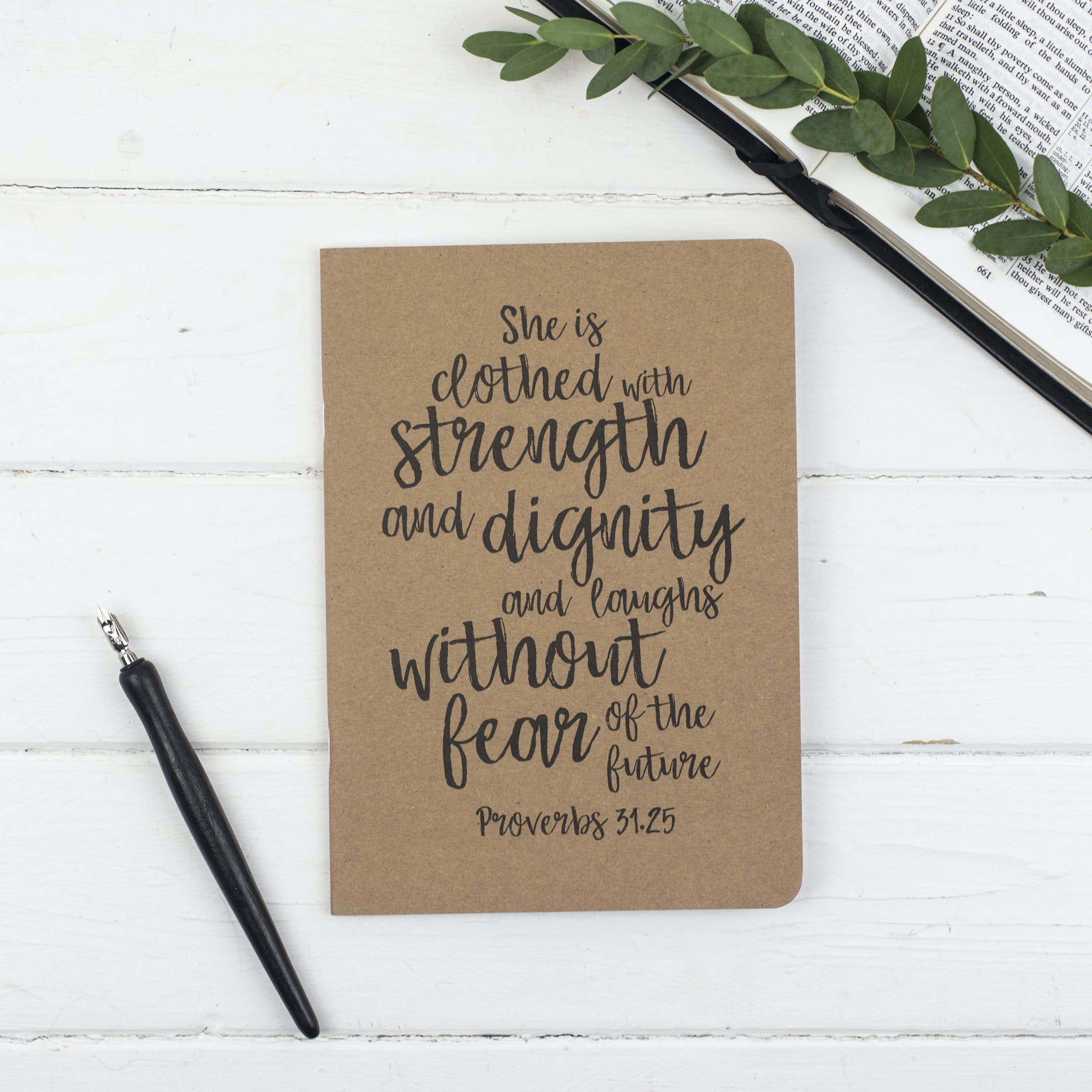 She Is Clothed Prayer Journal - Proverbs 31:25 - Christian Lettering Company