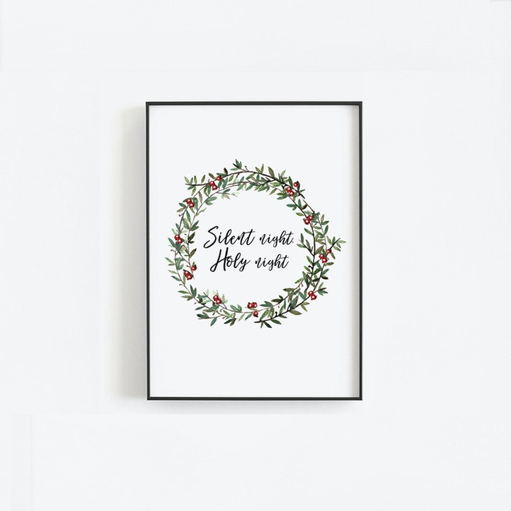 Silent Night, Holy Night - Christmas Print - Christian Lettering Company
