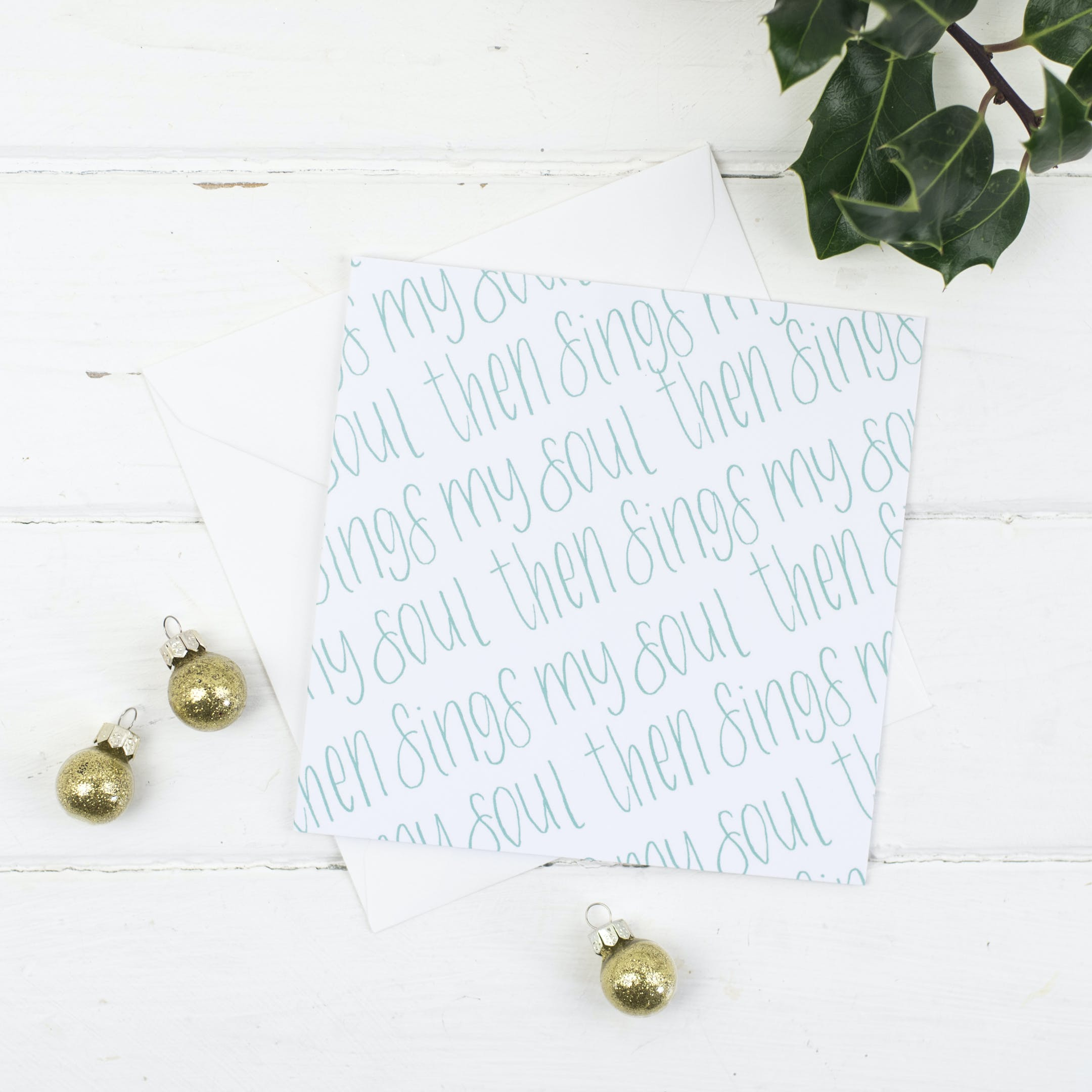 Then Sings My Soul - Christmas Card - Christian Lettering Company