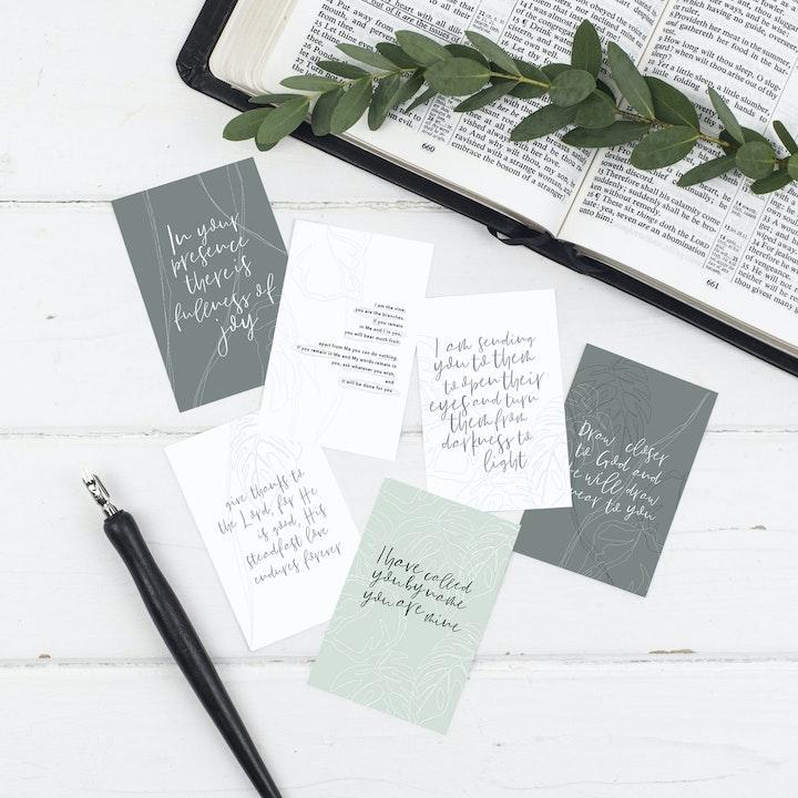 True Vine Mini Scripture Cards - Christian Lettering Company