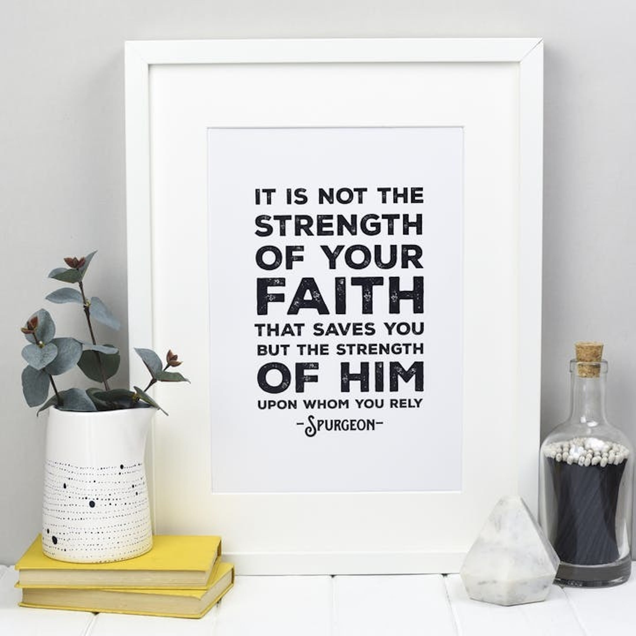Charles Spurgeon Quote Christian Wall Art
