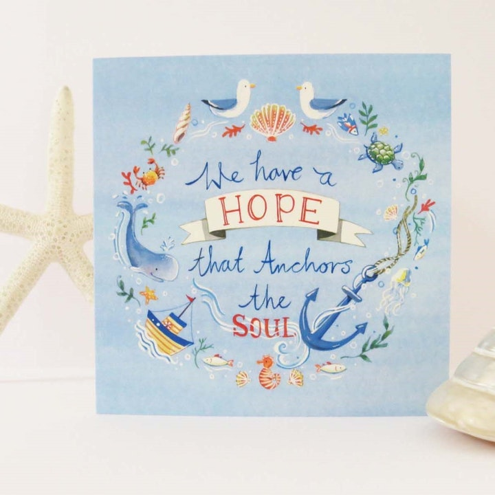 Anchor Blank Card - Hebrews 6:19 - Forget-Me-Not Christian Cards
