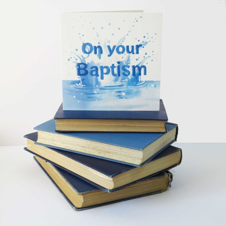 Baptism Waters Card - Deuteronomy 32:4 - Forget-Me-Not Christian Cards