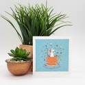 Cup Of Blessing Card - Forget-Me-Not Christian Cards