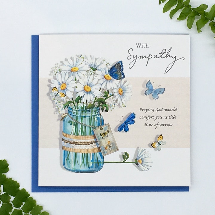 Daisy Sympathy Card - John 14:27 - Forget-Me-Not Christian Cards