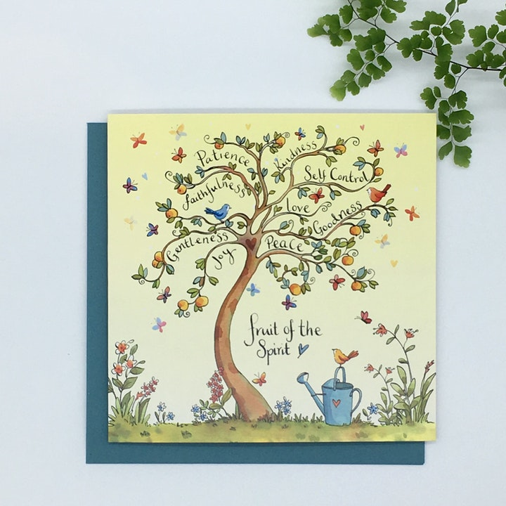 'Fruit of The Spirit' Blank Card - Galatians 5:22-23 - Forget-Me-Not Christian Cards