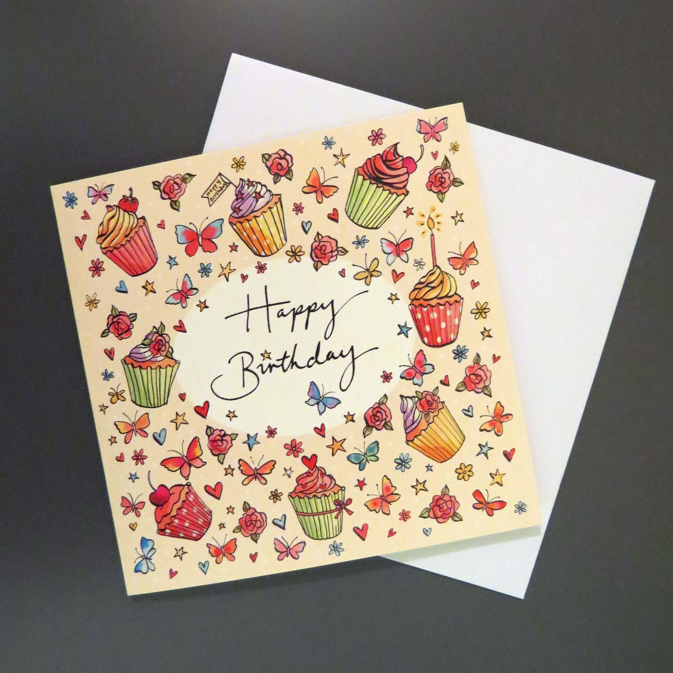 Happy Birthday - Cupcake Card - Forget-Me-Not Christian Cards