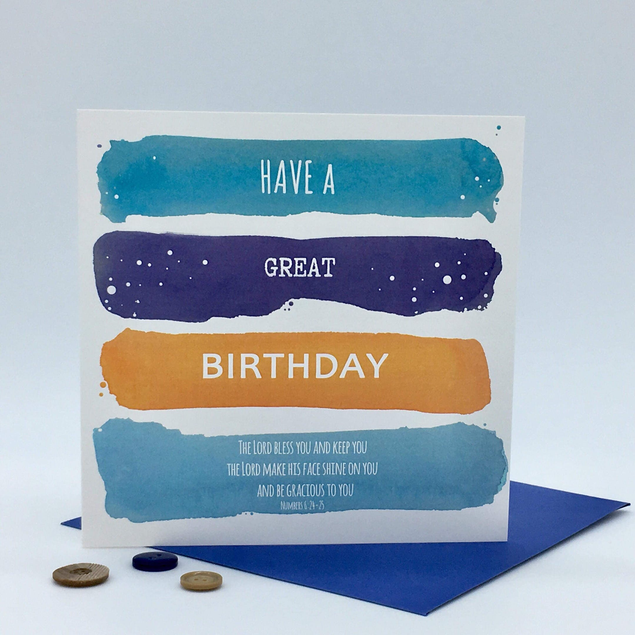 Have A Great Birthday Card - Numbers 6:24-25 - Forget-Me-Not Christian Cards