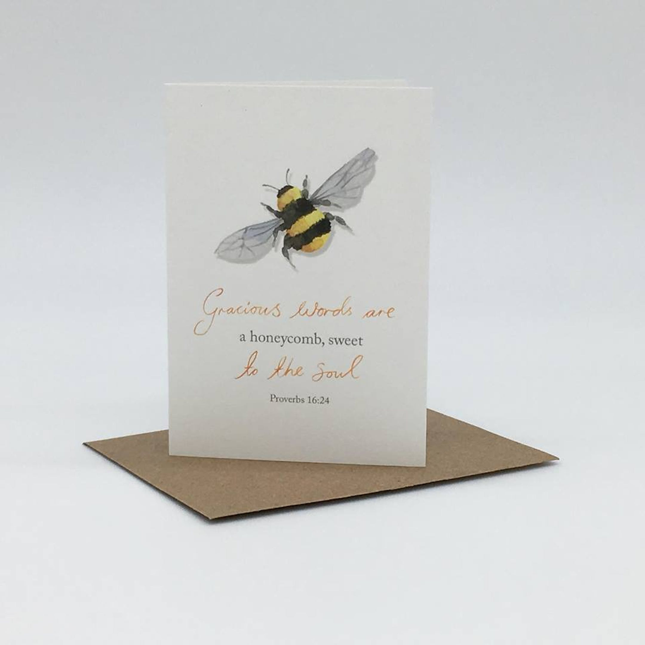 'Honeycomb' Mini Card - Proverbs 16:24 - Forget-Me-Not Christian Cards