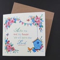 Joshua 24:15 Card - As For Me And My House - Forget-Me-Not Christian Cards