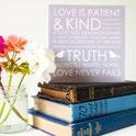 'Love Is Patient' Blank Card - 1 Corinthians 13:4-8 - Forget-Me-Not Christian Cards
