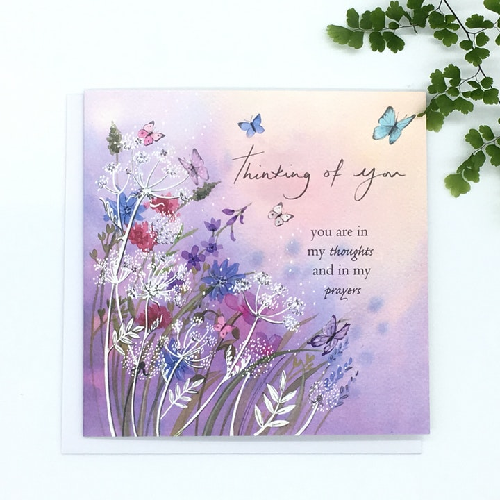 Meadow Thinking of You Card - Jeremiah 29:11 - Forget-Me-Not Christian Cards