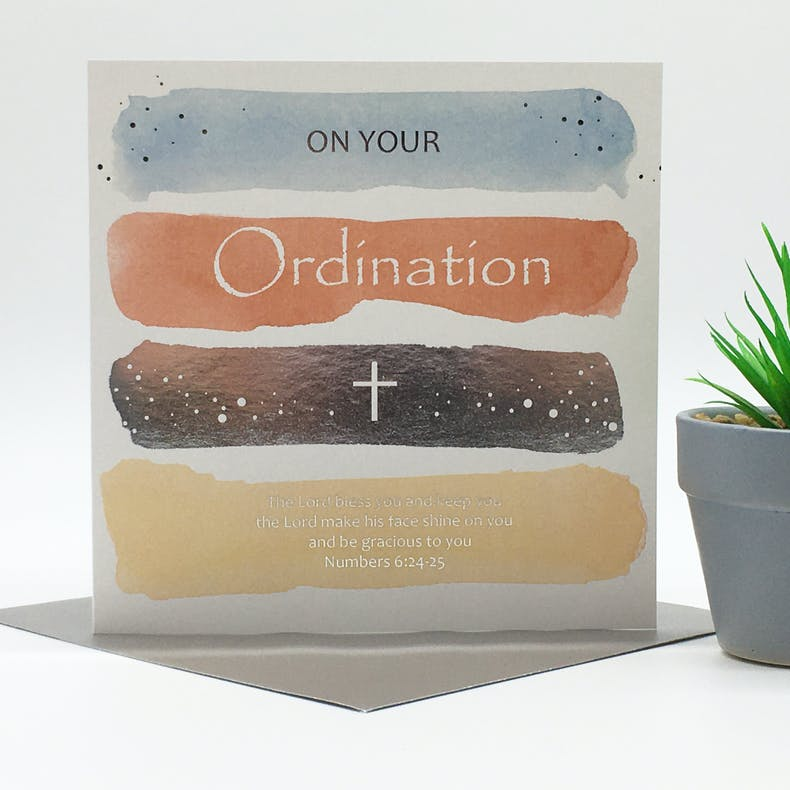 Ordination Cards by Forget-me-not Christian Cards at Cheerfully Given
