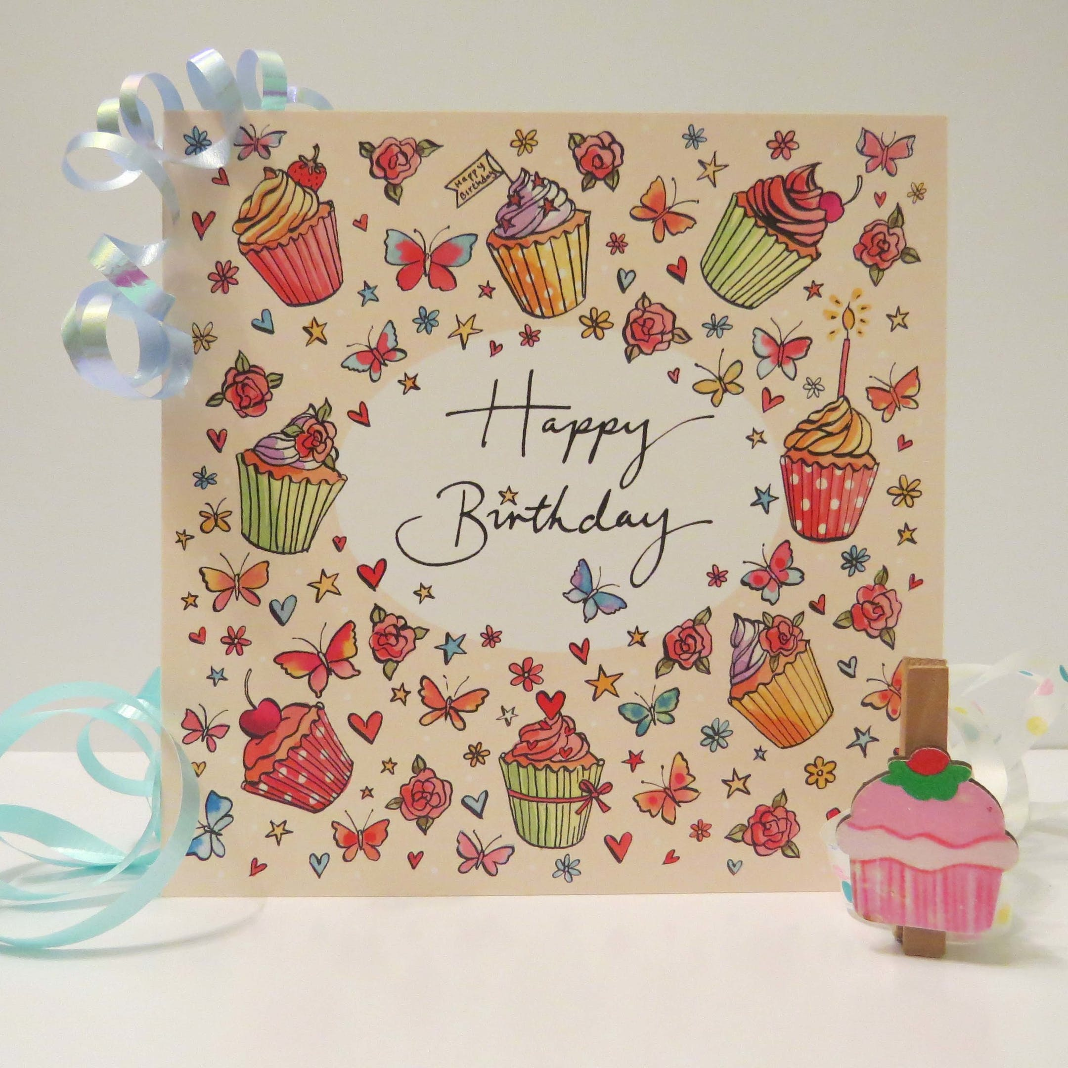 Romans 15:13 Card - Birthday Cupcake - Forget-Me-Not Christian Cards