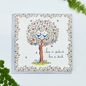 Rose Love Tree Card - 1 Corinthians 13 - Forget-Me-Not Christian Cards
