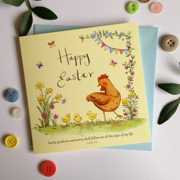 'Surely goodness and mercy' Easter Card Pack - Psalm 23:6 - Forget-Me-Not Christian Cards