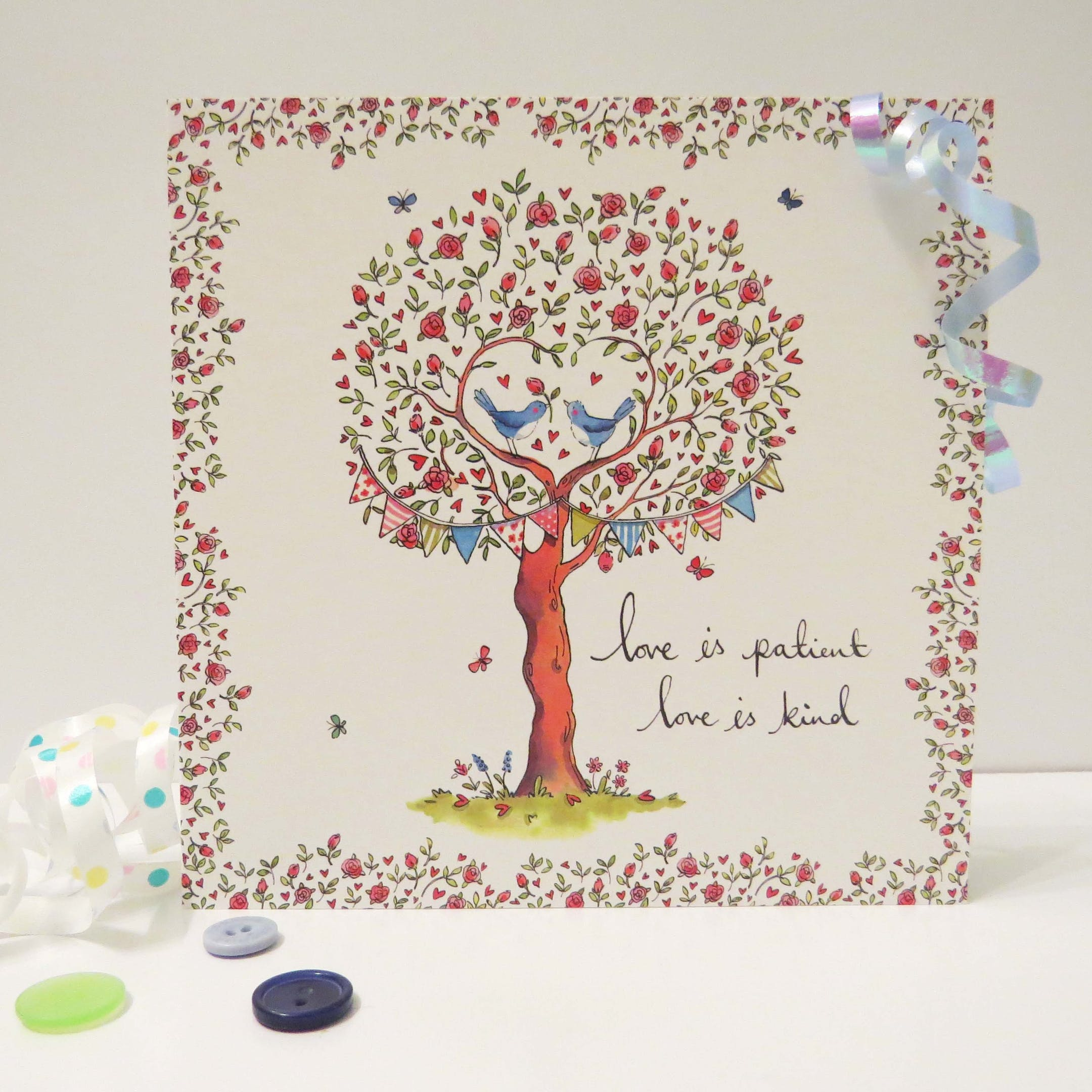 Tree 1 Corinthians 13 Card - Forget-Me-Not Christian Cards
