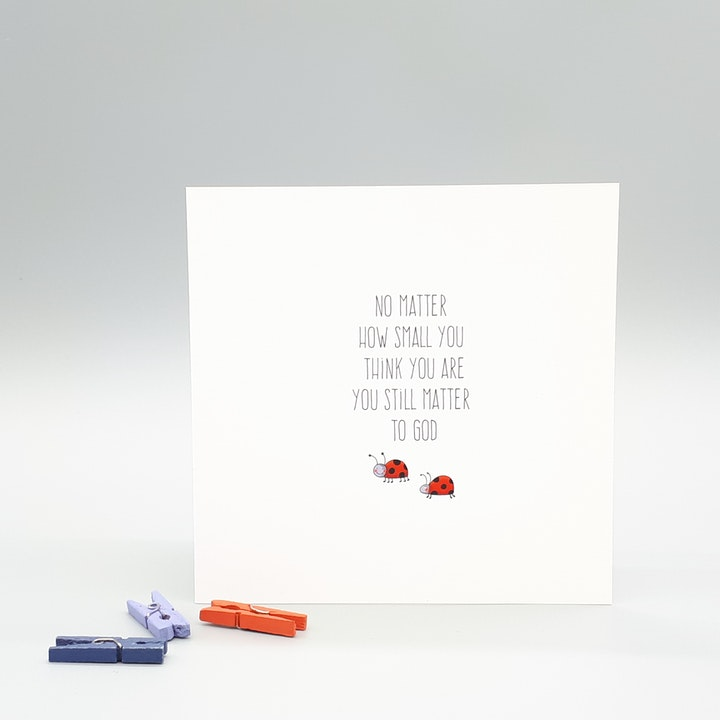 'You Matter To God' Blank Card - Ladybird - Forget-Me-Not Christian Cards