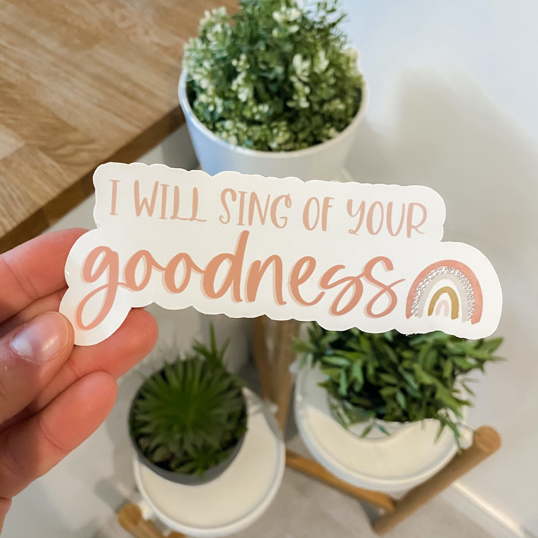 I Will Sing of Your Goodness Christian Stickers | Full of Grace Studio | Cheerfully Given