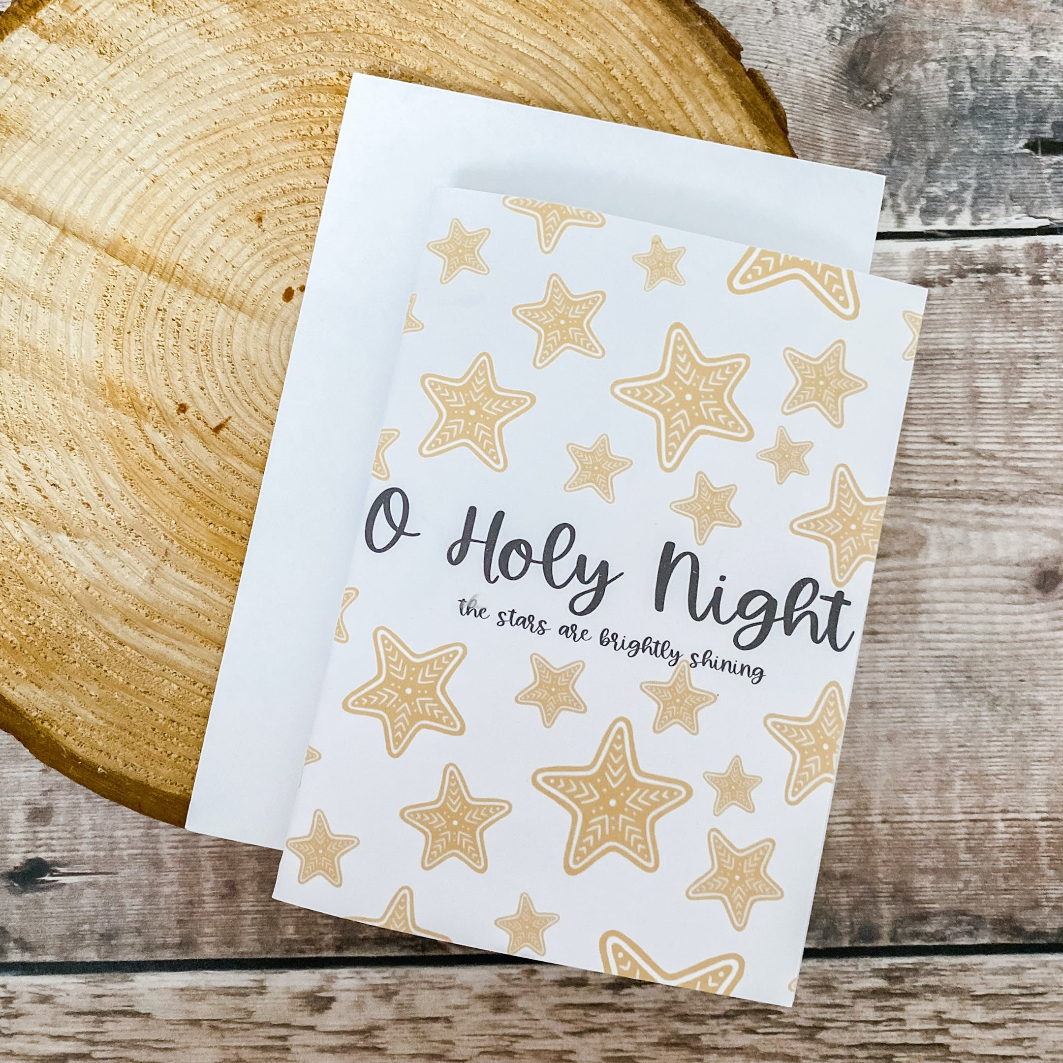 O Holy Night Christian Christmas Cards | Full of Grace Studio | Cheerfully Given