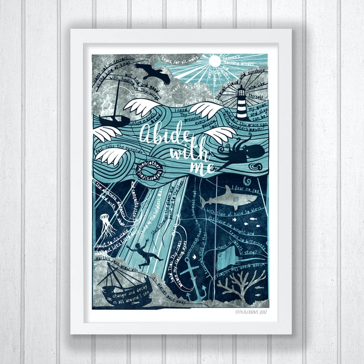 Abide With Me - Hymn Print - Frog and Gnome